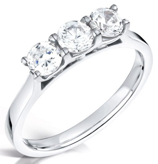 Three Round Diamond Engagement Ring