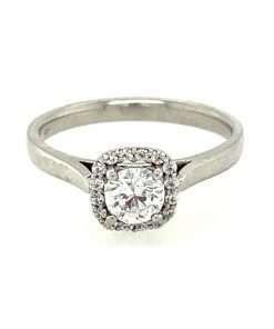 Elegant Halo Diamond Engagement Ring