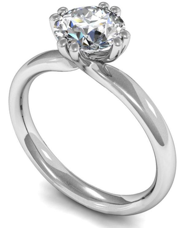 round brilliant solitaire engagement ring
