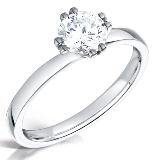 Round Brilliant Diamond Solitaire - Top Down Shot