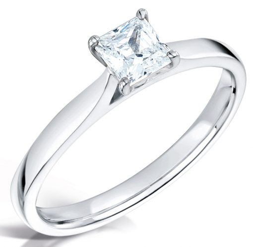 Beautiful Solitaire Engagement Ring - Top Down Shot