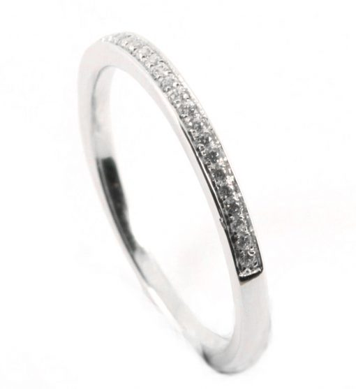 Half eternity ring as part of set
