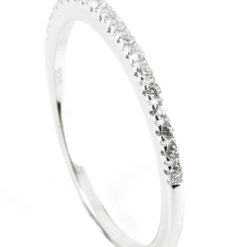 Beautiful delicate half eternity wedding band