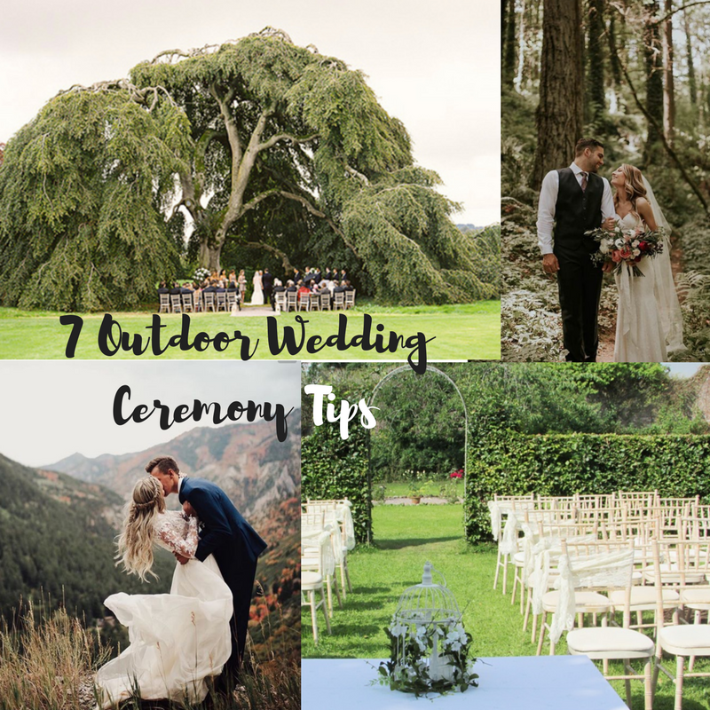 Blog Post: 7 Outdoor Wedding Ceremony Tips