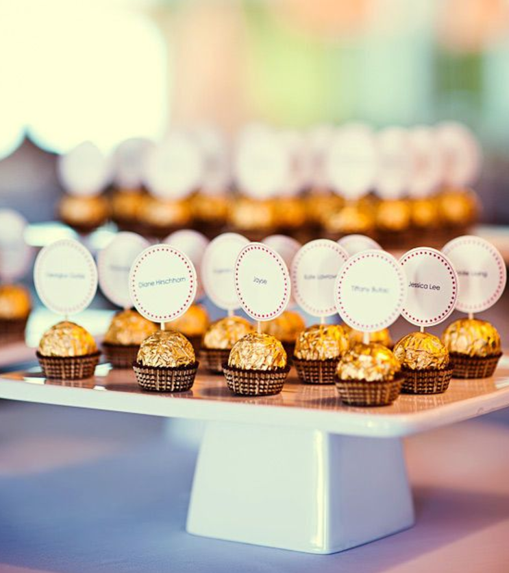 Ferraro Rocher Chocolates for Wedding Guests Display