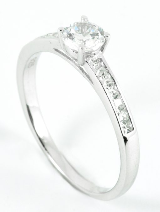 Solitaire Engagement Ring with Side Stones