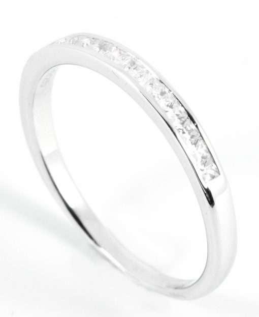 Princess-cut Half Eternity Diamond Wedding Band