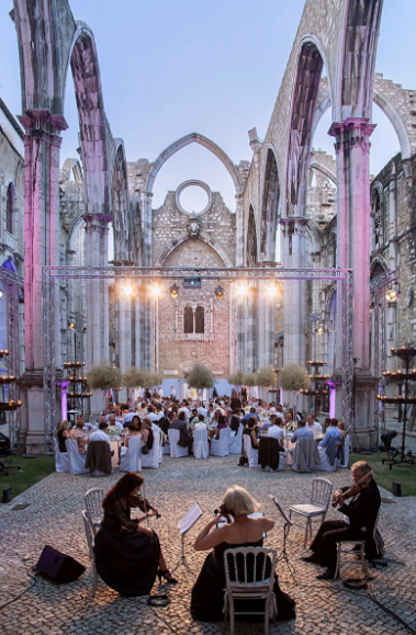 Romantic Wedding in Church Ruins in Lisbon, Portugal