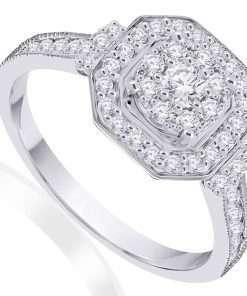 Stunning vintage diamond engagement ring