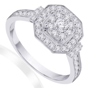 Stunning vintage diamond engagement ring