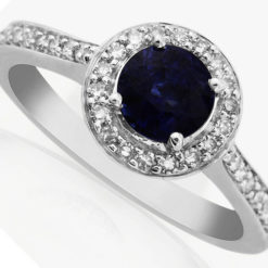 Vinatage Sapphire and Diamond Engagement Ring