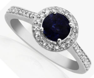 Vinatage Sapphire and Diamond Engagement Ring