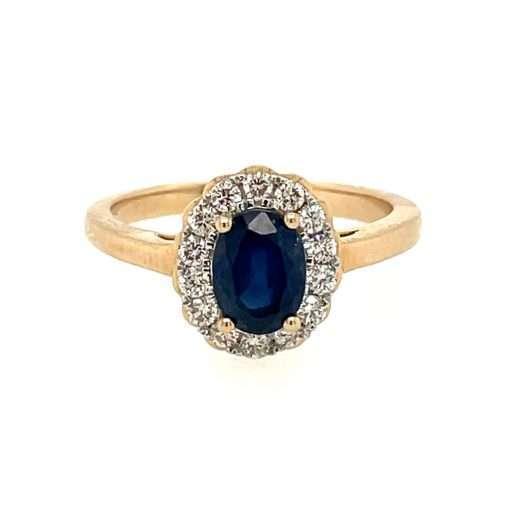 blue oval sapphire