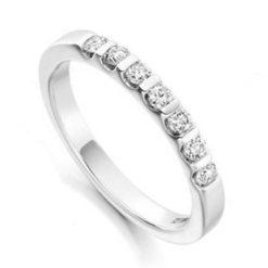 Round Brilliant Diamond Half Eternity