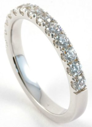 1ct Diamond Half Eternity Ring