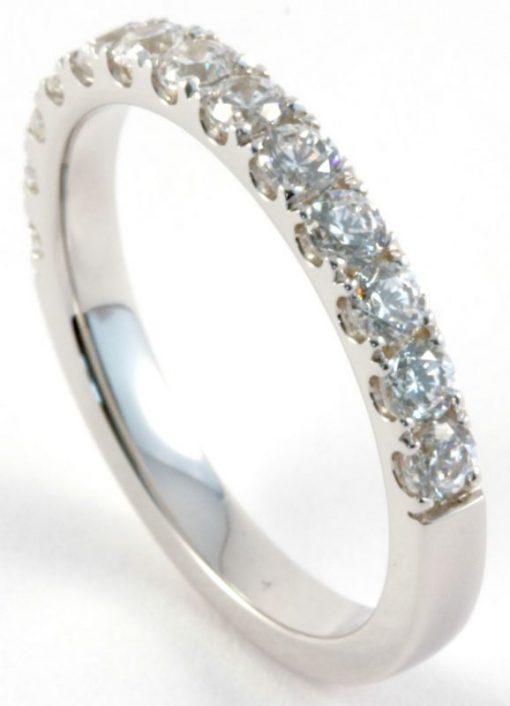 1ct Diamond Half Eternity Ring