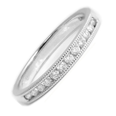 mill grain eternity ring
