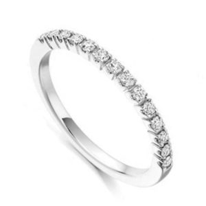 Stylish Diamond Half Eternity Band