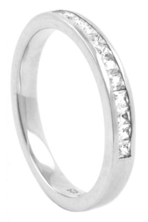 Princess cut diamond half eternity