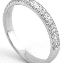 pave diamond half eternity ring