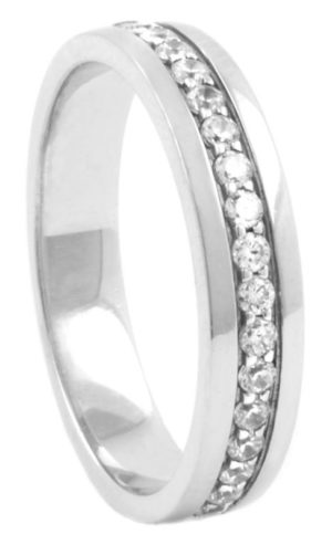 Wide Diamond Half Eternity Band