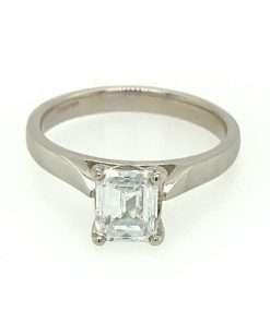 Emerald-Cut Diamond Solitaire