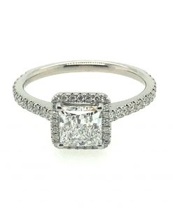 princess cut diamond halo
