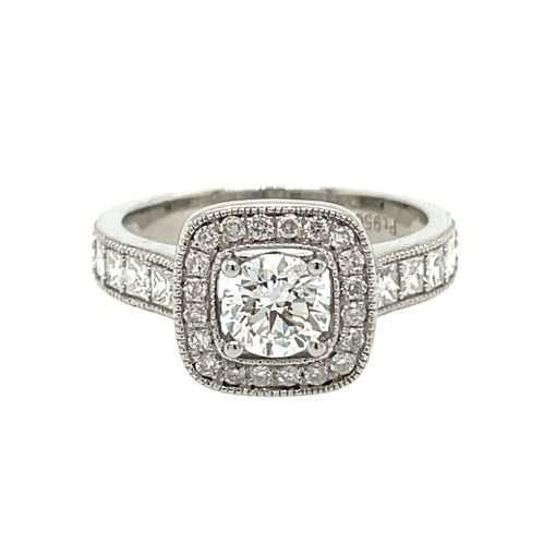 diamond halo in platinum