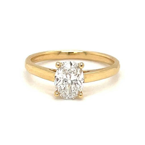 Yellow gold oval solitaire