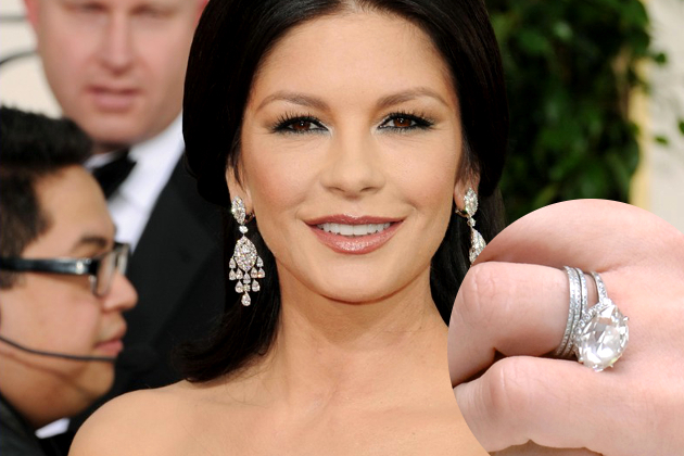 Catherine Zeta-Jones marquise engagement ring worth $335k